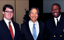 Attendee, Dr. Howard Koh, and Dr. Garth Graham