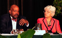Dr. Cato Laurencin and Dr. Virginia Davis Floyd