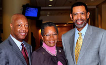 Dr. John Ruffin, Congresswoman Donna Christensen, and Mr. Michael Rashid